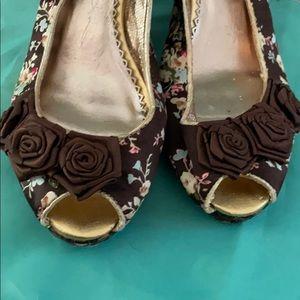 Poetic License London peep-toe wedge sandals